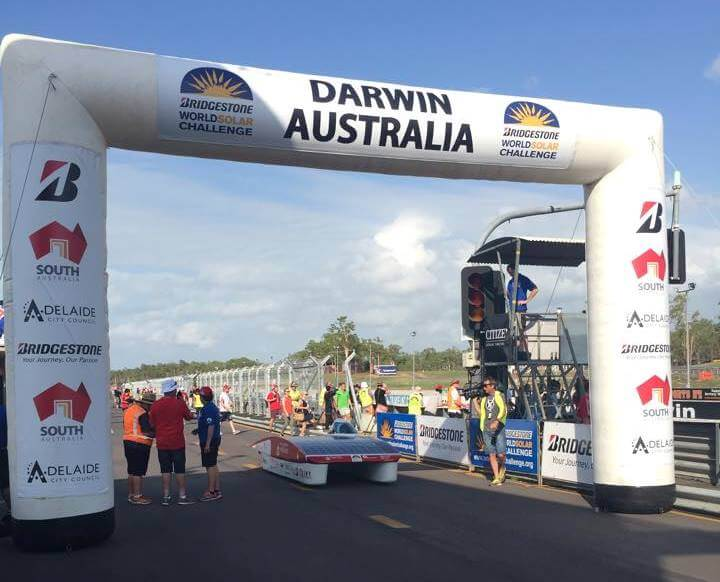 AUSRT at Darwin Start line 2015 world Solar Challenge