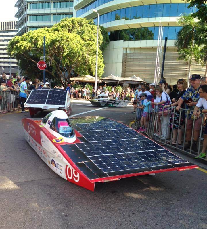 AUSRT in World Solar Challenge start in Darwin