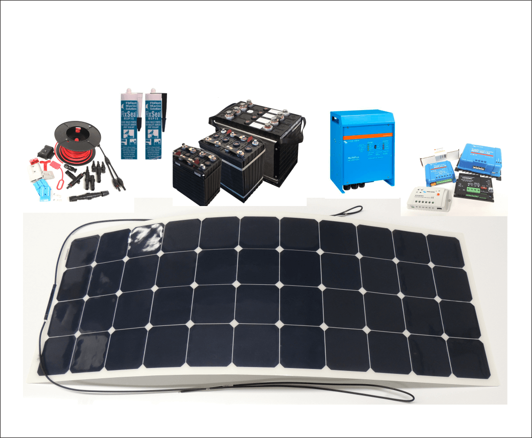 Quality solar products and kits for caravans and boats