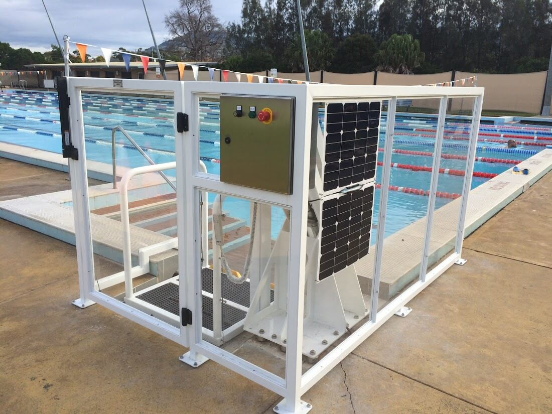 Corrimal pool's solar powered lift for disability access