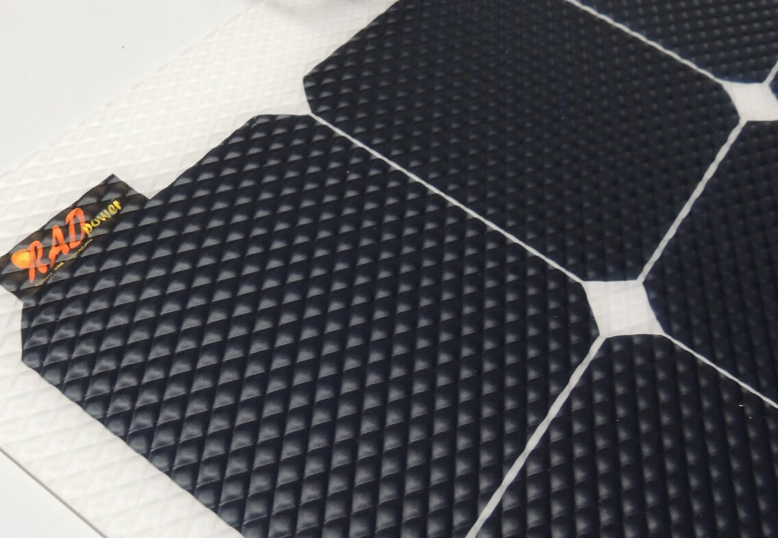 RADpower PremiumPlus flexible solar panel with the highest efficiency SunPower cells available