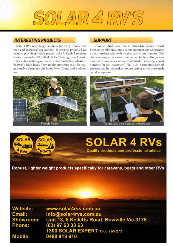 Touring Australia 2016 winter Spring edition solar article part 2