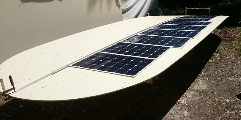 Flexible solar panels being installed on tourist ferries