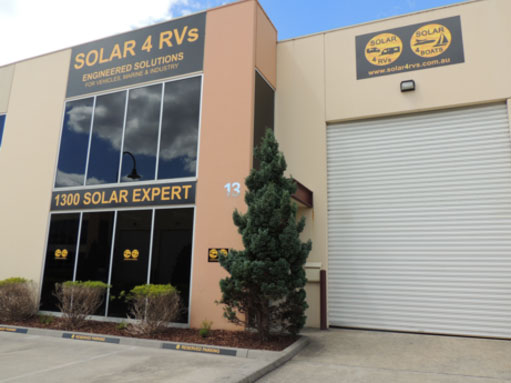 Solar 4 RVs showroom warehouse offices in Rowville Vic