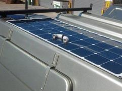 Tool trailer with flexible solar panels