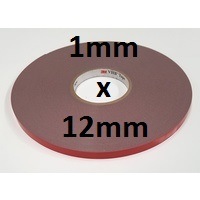 3M VHB Acrylic Foam Tape 4941 1mm x 12mm x 33m roll