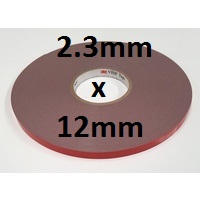 3M VHB Acrylic Foam Tape 4991 2.3mm x 12mm x 33m roll