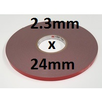 3M VHB Acrylic Foam Tape 4991 2.3mm x 24mm x 33m roll