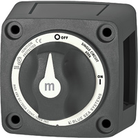 Blue Sea m-Series Mini On-Off Battery Switch with Knob - Black