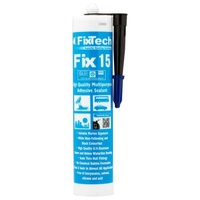 Black Fix15 Adhesive Sealant 290ml Cartridge