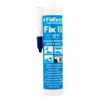 White Fix15 Adhesive Sealant 290ml Cartridge