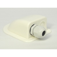Cable entry cover - 1 gland white lightweight