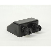 Cable entry box - 2 gland black