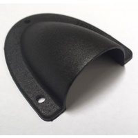 Cable entry clamshell cover - medium black