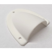 Cable entry clamshell cover - medium white