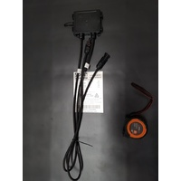 63W - Black; 1330x290x3mm; junction box underneath; no eyelets