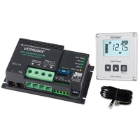 Combo: MPPT Solar Charge Controllers and remote LCD Display Votronic