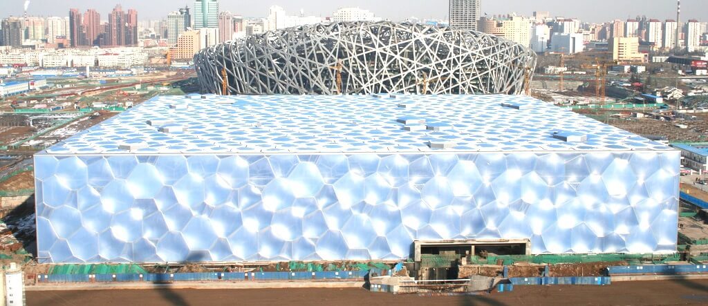 ETFE on Beijing National Aquatics Centre (the 2008 Olympics Water Cube)