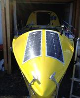 Solbian solar panels curved onto Kayak