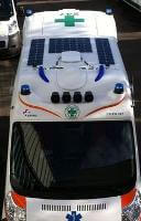 Ambulance with Solbian flexible solar panels installed