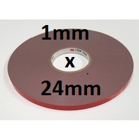 3M VHB Acrylic Foam Tape 4941 1mm thick x 24mm wide x 33m length roll