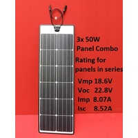 3 x 50W panels Combo with EPDM rubber edge eArche (total 150W)