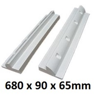 Solar Panel long side brackets - 680mm