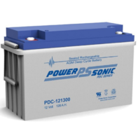 Power-Sonic 12V 128Ah C20 Cyclic AGM Battery