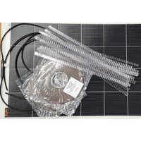 Combo: 1 x 125W Smart-wire lightweight solar panel with install kit