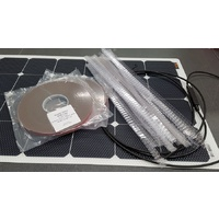 Combo: - 1 x 150W RADpower solar panel with install kit for vented gap