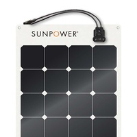 110W SunPower brand 1165x556x2mm Vmp 18.8V Imp 5.9A lightweight flex solar panel