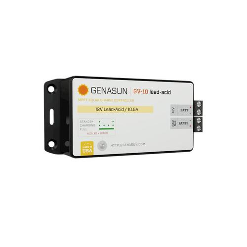 Genasun 10.5A MPPT 12V for Lead-Acid+GV-10-Pb-12V+10.5A MPPT 12V for Lead-Acid Genasun Solar Charge Controller