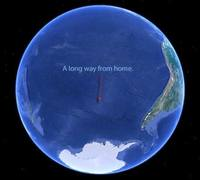 Lisa Blair sails to furthest point from land